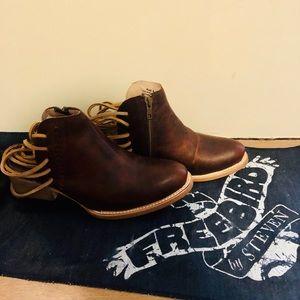 Freebird JoJo cognac boots size 8 NEW